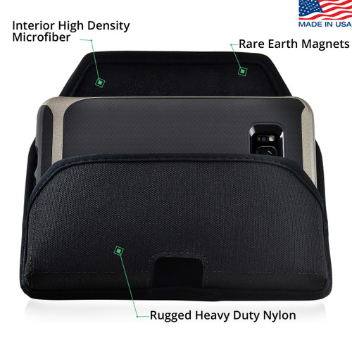 Galaxy S9 & S8 Nylon Holster Case Metal Belt Clip