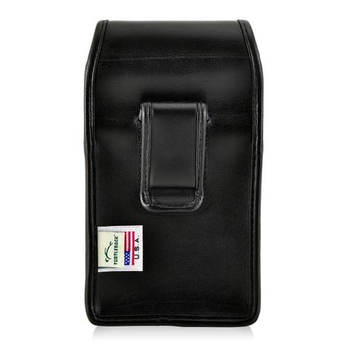 Galaxy S8 Leather Vertical Holster Case Black Belt Clip Otterbox Defender