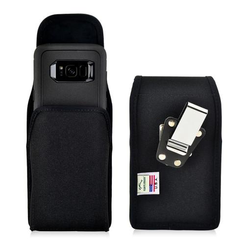 Galaxy S8 Nylon Vertical Holster Case Metal Belt Clip Otterbox Defender