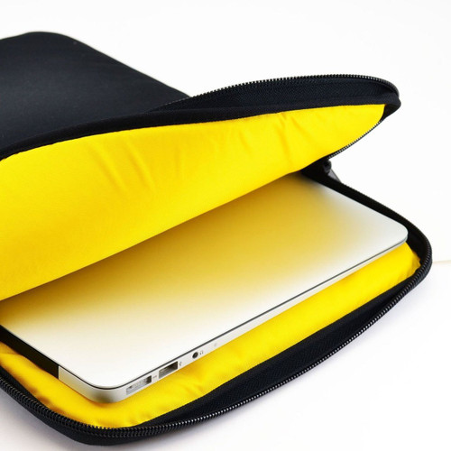 Apple 14in Macbook Laptop Padded Sleeve Bag Case with Straps, Yellow
