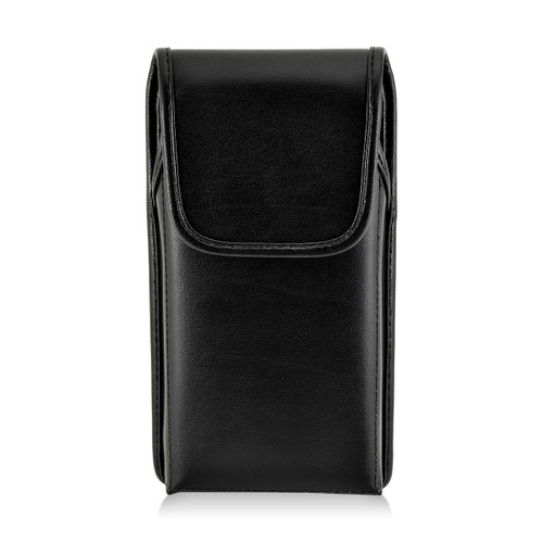 iPhone 6S Plus Leather Vertical Holster Black Belt Clip Fits Otterbox Commuter