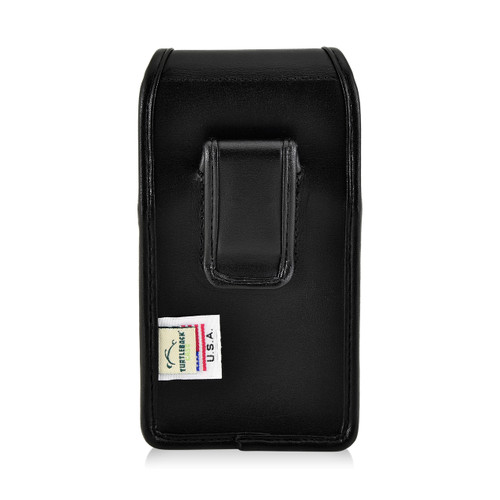 iPhone 6S Leather Vertical Holster Black Belt Clip Case Fits Otterbox Commuter