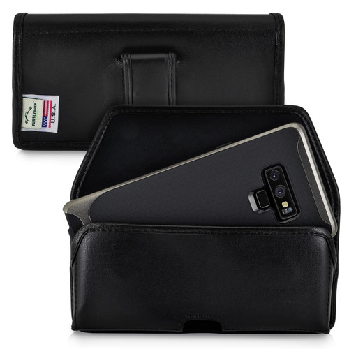 Samsung Note 9 and Note 8 Holster Black Belt Clip Case Pouch Leather Turtleback