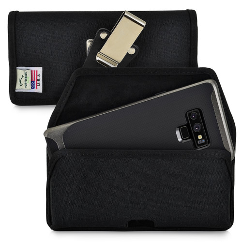 Samsung Note 9 and Note 8 Holster Metal Belt Clip Case Pouch Nylon Turtleback