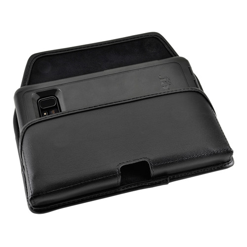 Galaxy Note 8 Leather Holster for Otterbox Commuter Case Metal Clip and Fits Bulk Cases