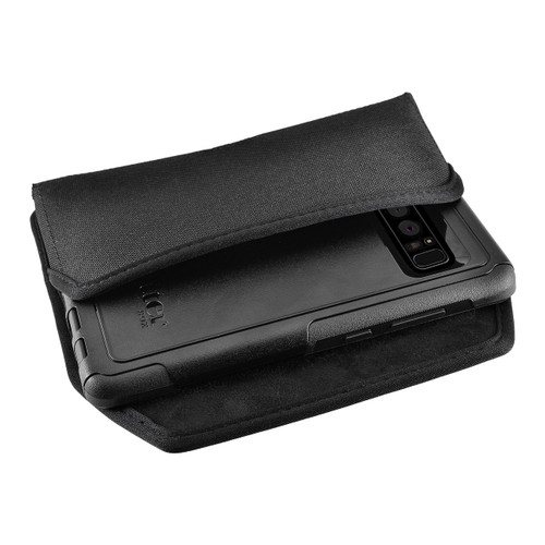 Galaxy Note 8 Nylon Holster for Otterbox Commuter Case Metal Clip and Fits Bulk Cases