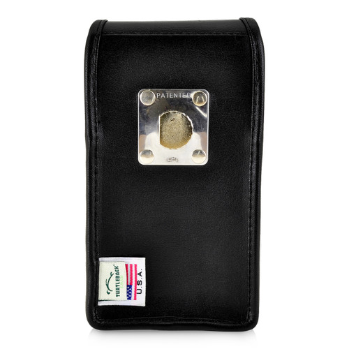 iPhone 11 Pro (2019), XS (2018) & X (2017) Belt Case Vertical Holster Black Leather Pouch Heavy Duty Rotating Belt Clip