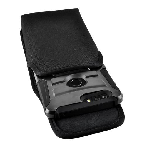 ZTE Blade Z Max Holster Metal Clip Case Pouch Nylon Vertical Turtleback