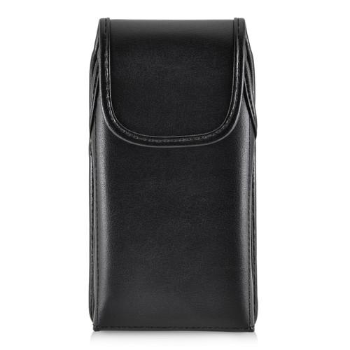Galaxy J7 2017 Prime Perx Halo Belt Case SLIM Vertical Black Leather Belt Clip