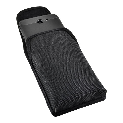 Galaxy J7 2017 Prime, Perx, Halo Holster, SLIM Vertical Black Nylon Belt Clip