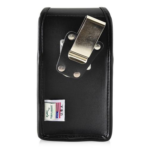 Google Pixel 2 Belt Case Fits Slim Case Vertical Black Leather Heavy Duty Rotating Belt Clip