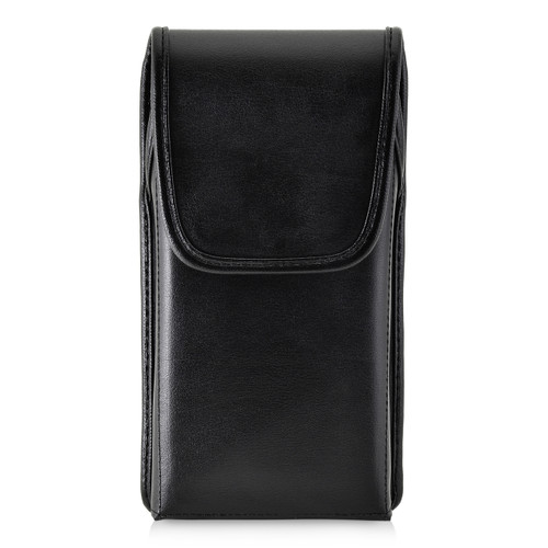 Google Pixel 2 XL Belt Case Fits Slim Case Vertical Black Leather Executive Belt Clip