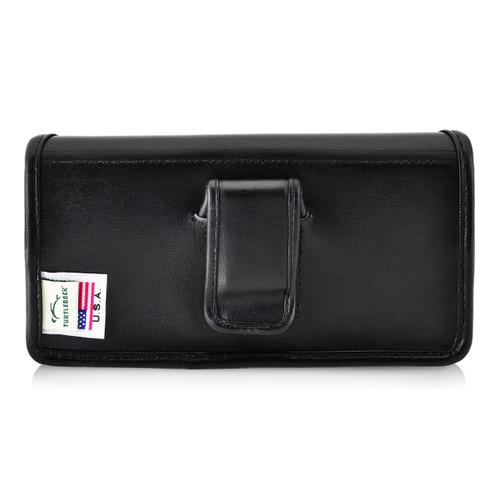 iPhone X Holster fits OTTERBOX COMMUTER SYMMETRY Case Black Belt Case Leather Belt Clip Horizontal