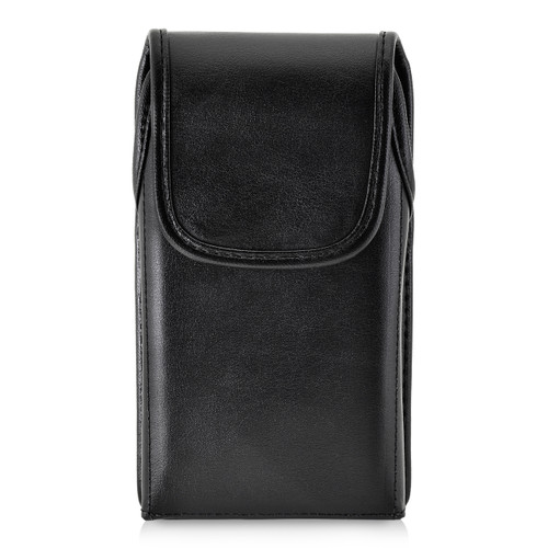 iPhone X Belt Case fits OTTERBOX COMMUTER SYMMETRY Case Vertical Holster Black Leather Rotating Belt Clip