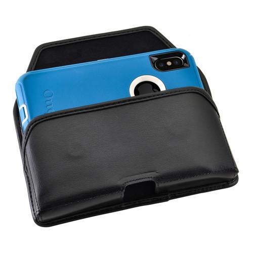 iPhone X Belt Case fits OTTERBOX DEFENDER Case Black Holster Rotating Belt Clip, Horizontal