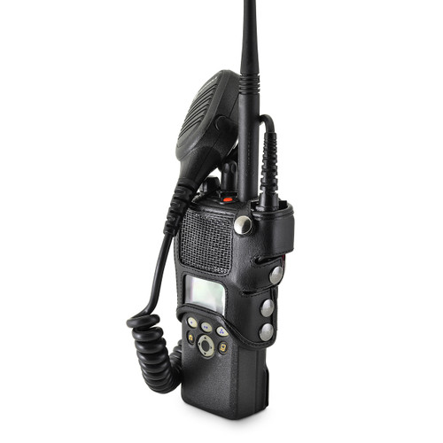 Motorola XTS2500 Models I II III Radio Belt Clip Holder fits in Charger for Two 2 Way Radios Black Leather