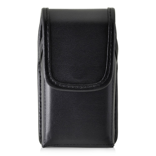 Consumer Cellular Alcatel GO FLIP, ATT Flip2, T-Mobile 4044W, MYFLIP (A405DL) Black LEATHER Magnet Closure Executive Belt Clip
