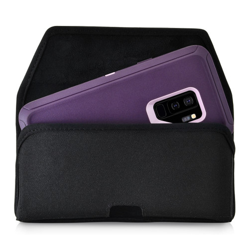 Galaxy S9 Plus Belt Clip Case for Otterbox DEFENDER Case Rotating Belt Clip Black Nylon Pouch
