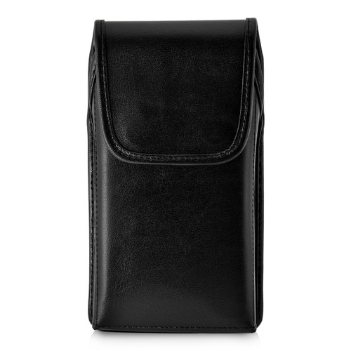 Galaxy S9 Vertical Holster made for Otterbox DEFENDER Case Flush Leather Covered Metal Belt Clip