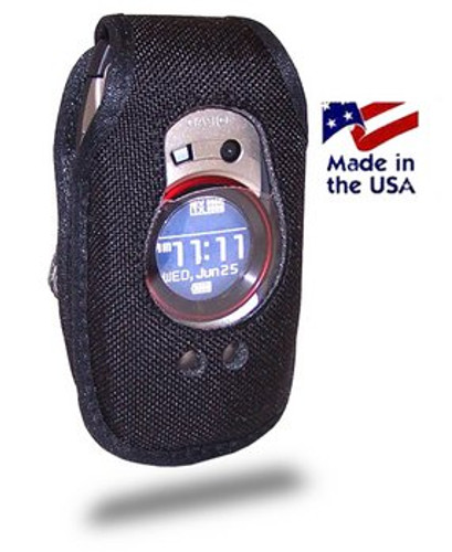 Case Heavy Duty Leather for Casio GzOne Boulder C711 Flip Phone Case with Rotating Metal Belt Clip