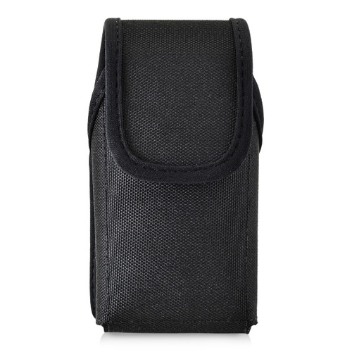 4.38 X 2.25 X 1.15 in -  Black Nylon Pouch Case Rotating Belt Clip Magnet
