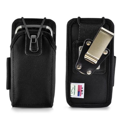 """Intermec CS40 Mobile Computer Case Nylon Holster 2 Belt Clips, Metal Clip/Belt Loop Fits 5 3/8""""X 2 1/2""""X 1.0"""""""