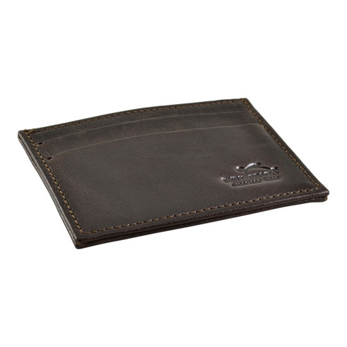 Front Pocket Wallet Minimalist Slim Card Holder with RFID Blocking Thin Genuine BROWN Leather