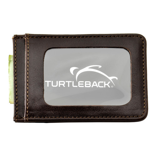 Front Pocket Wallet ID Window Minimalist Slim Card Holder with RFID Blocking Thin Genuine BROWN Leather