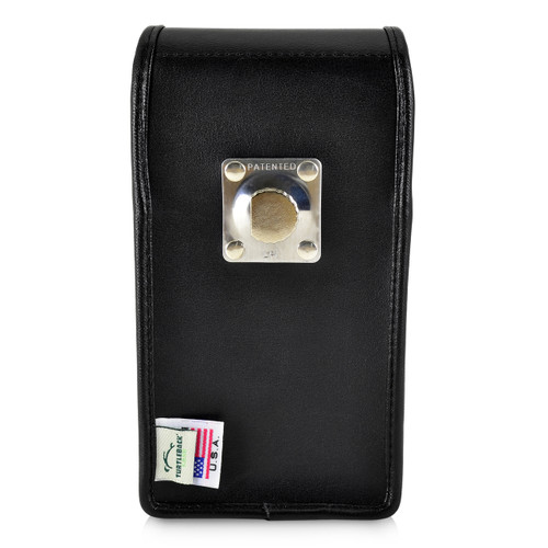 iPhone 11 Pro Max (2019) & XS MAX (2018) Belt Case Vertical Holster Black Leather Pouch Heavy Duty Rotating Belt Clip
