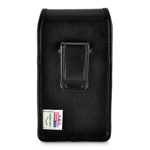iPhone XR (2018) Belt Holster Vertical Holster Black Leather Pouch Executive Belt Clip