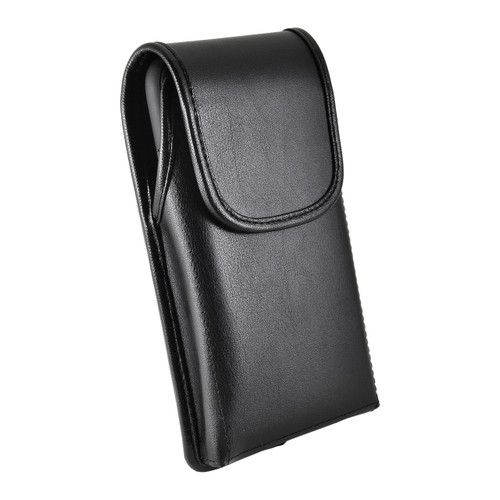 iPhone 11 (2019) & iPhone XR (2018) Belt Case Vertical Holster Black Leather Pouch Heavy Duty Rotating Belt Clip