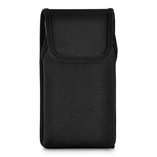 iPhone XS MAX (2018) Fits with OTTERBOX COMMUTER Vertical Holster Black Nylon Pouch Rotating Belt Clip