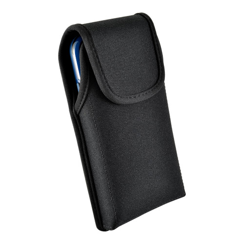 iPhone XS (2018) Fits with OTTERBOX STATEMENT Vertical Holster Black Nylon Pouch Rotating Belt Clip