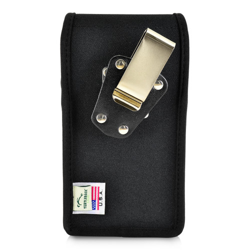 iPhone XS (2018) Fits with OTTERBOX PURSUIT Vertical Holster Black Nylon Pouch Rotating Belt Clip
