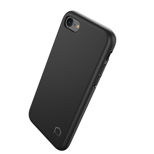 iPhone 8 Phone Case and Vertical Holster Nylon with Metal Belt Clip Set, Black