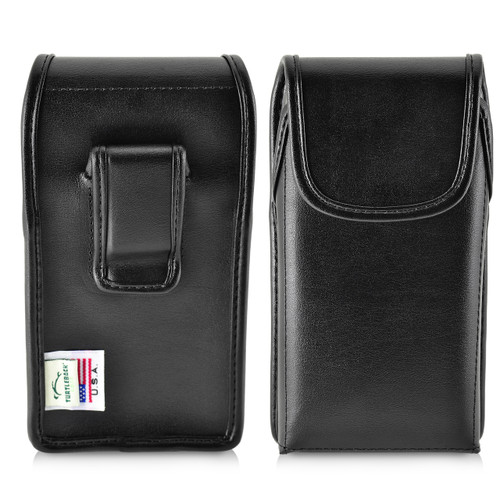 iPhone 8 Plus Phone Case and Vertiacl Holster with Black Belt Clip Set, Black