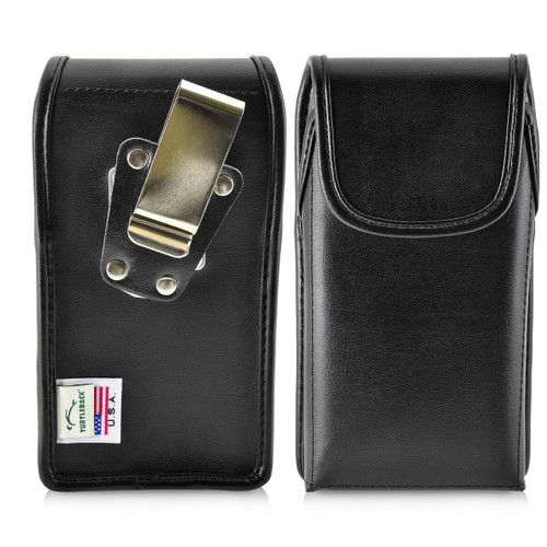 iPhone X Phone Case and Vertical Holster with Metal Belt Clip Set, Black