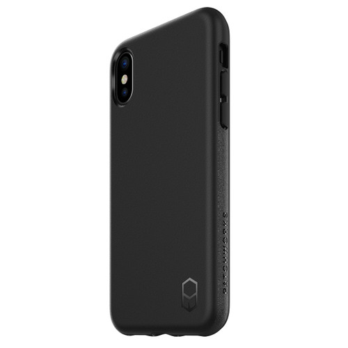 iPhone X Phone Case and Holster Nylon with Metal Belt Clip Set, Black