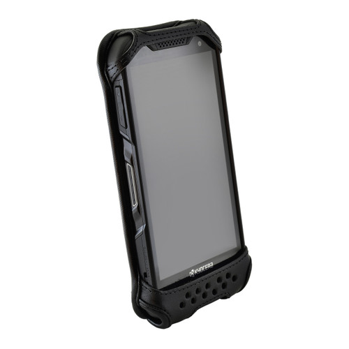 Kyocera DuraForce PRO 2 (6910 6900) Fitted Phone Case Black Leather Metal Clip Turtleback