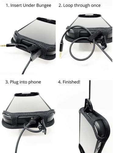 Kyocera DuraForce PRO 2 (6910 6900) Fitted Phone Case Black Leather Metal Clip Turtleback