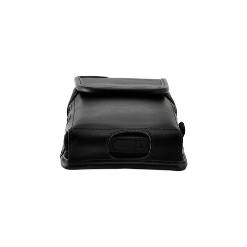 Sonim XP8 C1D2 IS Holster Pouch, Vertical Black Leather with Belt Loop & Magnetic Closure
