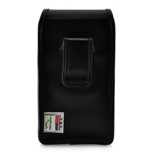 Kyocera DuraForce PRO 2 Holster Vertical Belt Case, Black Leather Pouch with Executive Belt Clip