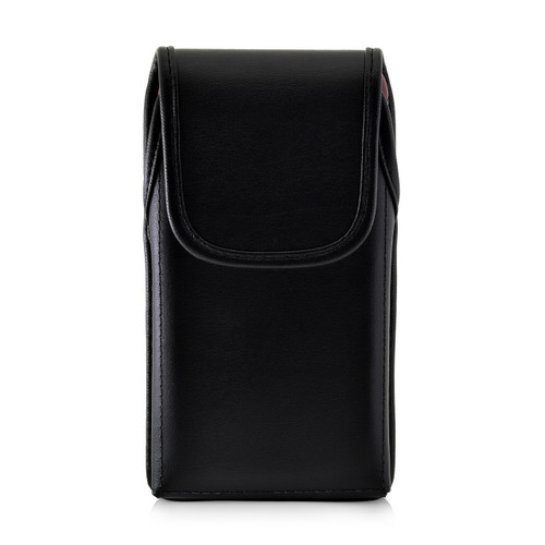 iPhone XR (2018) Fits with OTTERBOX SYMMETRY Vertical Belt Case Black Leather Pouch Executive Belt Clip