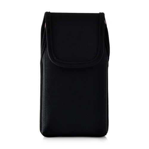 iPhone XR (2018) Fits with OTTERBOX SYMMETRY Vertical Holster Black Nylon Pouch Rotating Belt Clip