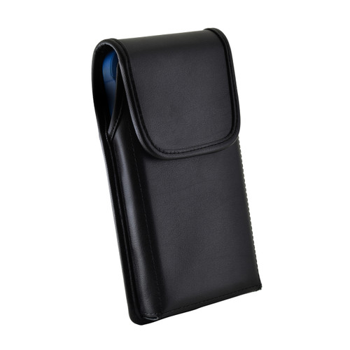 iPhone XR (2018) Fits with OTTERBOX COMMUTER Vertical Belt Case Black Leather Pouch Executive Belt Clip