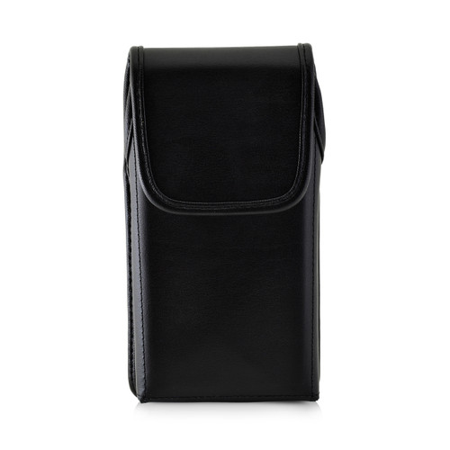 iPhone XR (2018) Fits with OTTERBOX COMMUTER Vertical Holster Black Leather Pouch Rotating Belt Clip