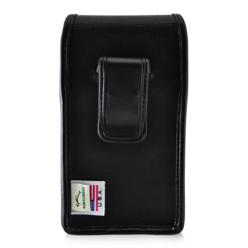Galaxy S10e Leather Vertical Holster Case Black Belt Clip