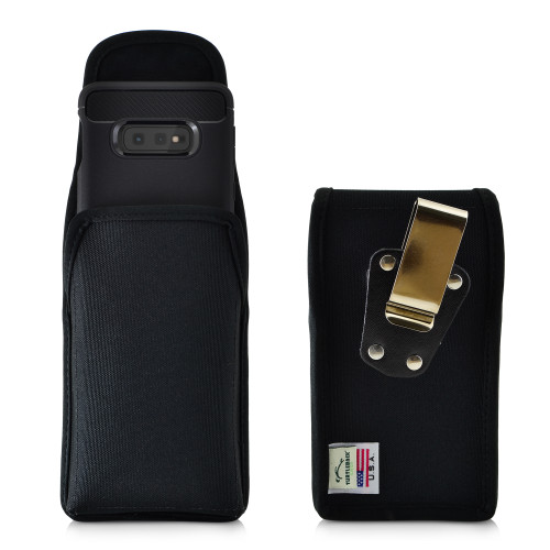 Galaxy S10e Nylon Vertical Holster Case Metal Belt Clip