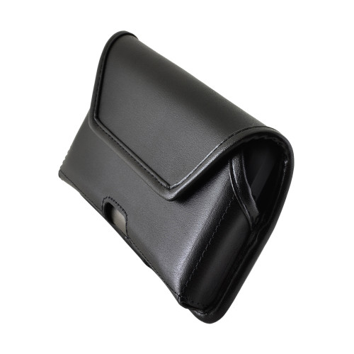 Galaxy S10 Leather Holster Case Black Belt Clip