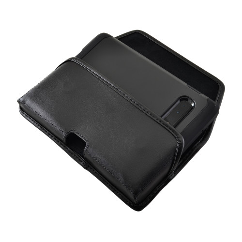 Galaxy S10+ Leather Holster Case Black Belt Clip
